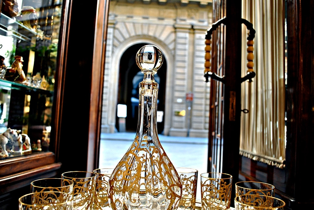 Crystal decanter and glasses BAALBECK.
